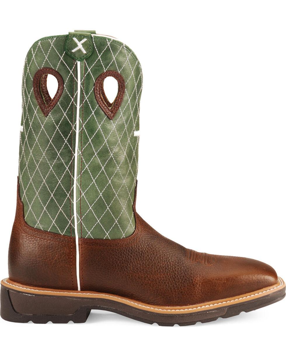 Twisted X Men's Lite Square Toe Work Boots, Cognac, hi-res