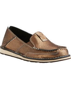 Ariat Women's Metallic Cruiser Slip-on Shoes, Gold, hi-res