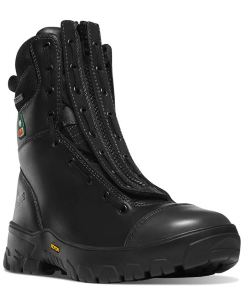 Danner Men's Modern Firefighter Work Boots - Composite Toe, Black, hi-res
