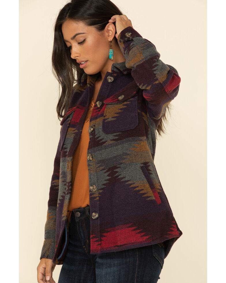 Idyllwind Women's Dusk Shacket Jacket , Burgundy, hi-res
