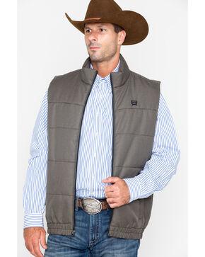 Cinch Men's Houndstooth Puffer Vest, Burgundy, hi-res