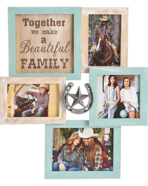 BB Ranch Horseshoe Collage Photo Frame, No Color, hi-res