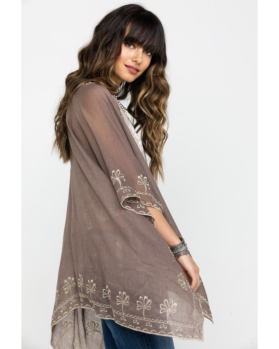 Shyanne Women's Olivia Taupe Blanket Scarf, Taupe, hi-res
