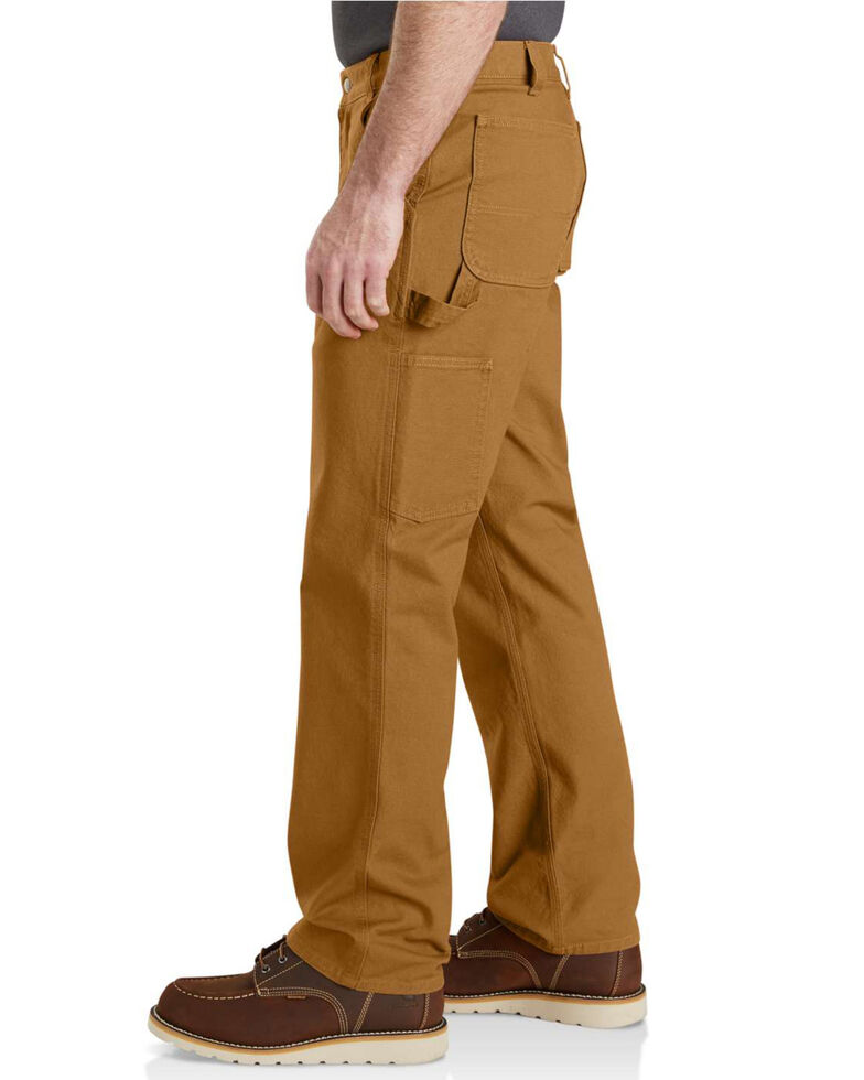 Carhartt Men's Rugged Flex Work Pants, Brown, hi-res
