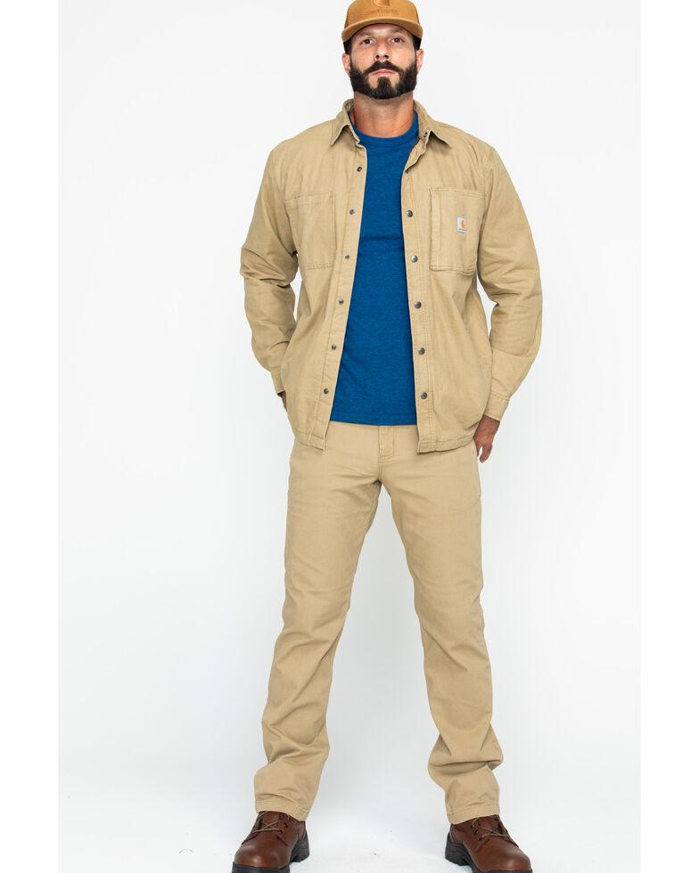 Carhartt Men's Rugged Flex Rigby Work Shirt Jacket , Beige/khaki, hi-res