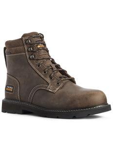 Ariat Men's Groundbreaker Work Boots - Steel Toe, Brown, hi-res