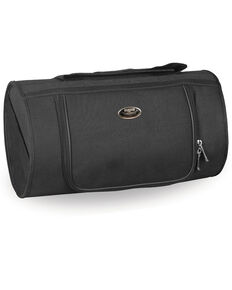 Milwaukee Leather Black Textile Roll Top Bag , Black, hi-res