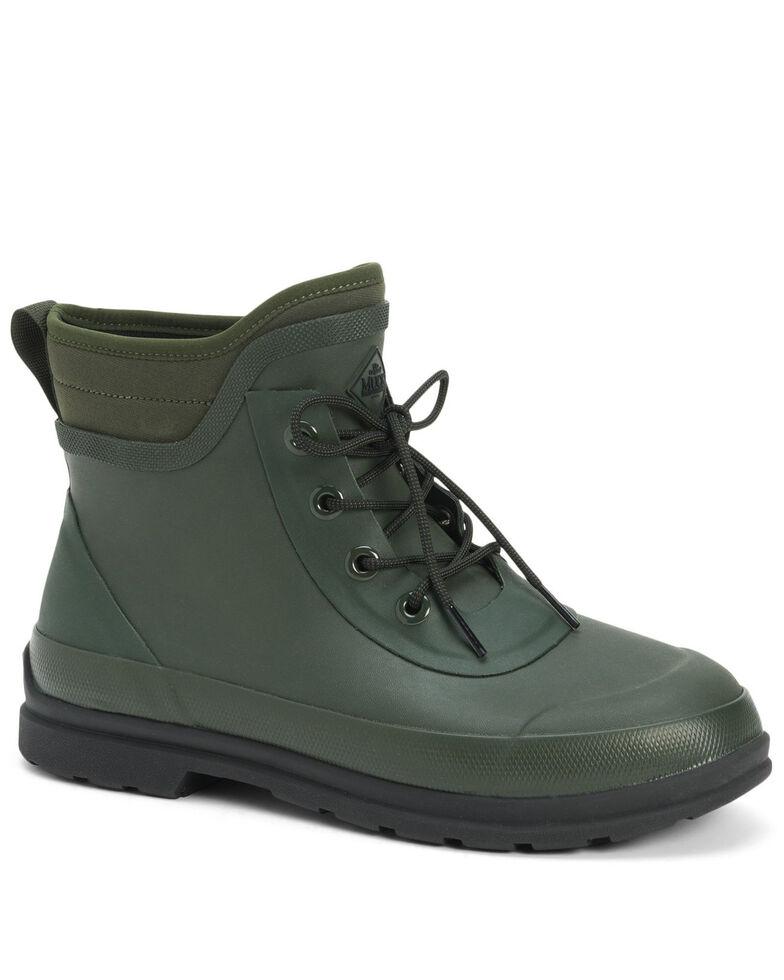 Muck Boots Men's Original Modern Lace-Up Boots - Round Toe, Moss Green, hi-res