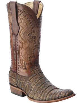 Corral Men's Alligator Round Toe Exotic  Boots, Antique Saddle, hi-res