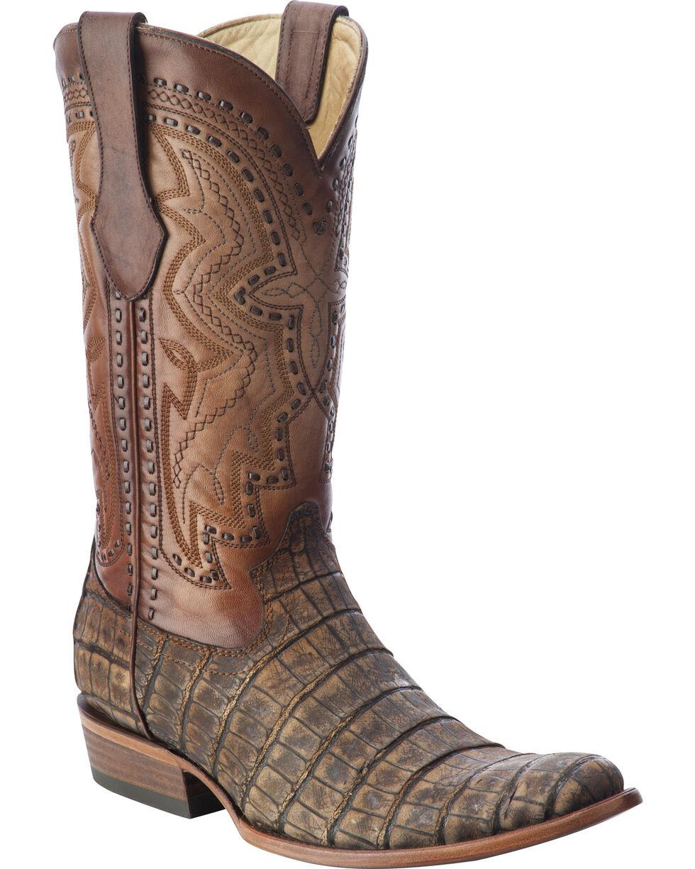 Corral Men's Alligator Round Toe Exotic  Boots, Antique Saddle, hi-res