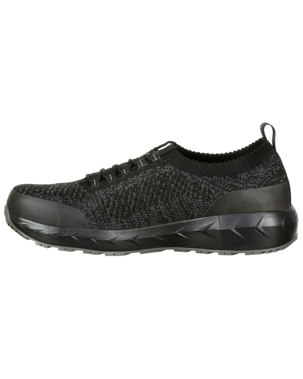 Rocky Men's WorkKnit LX Athletic Work Shoes - Round Toe, Black, hi-res