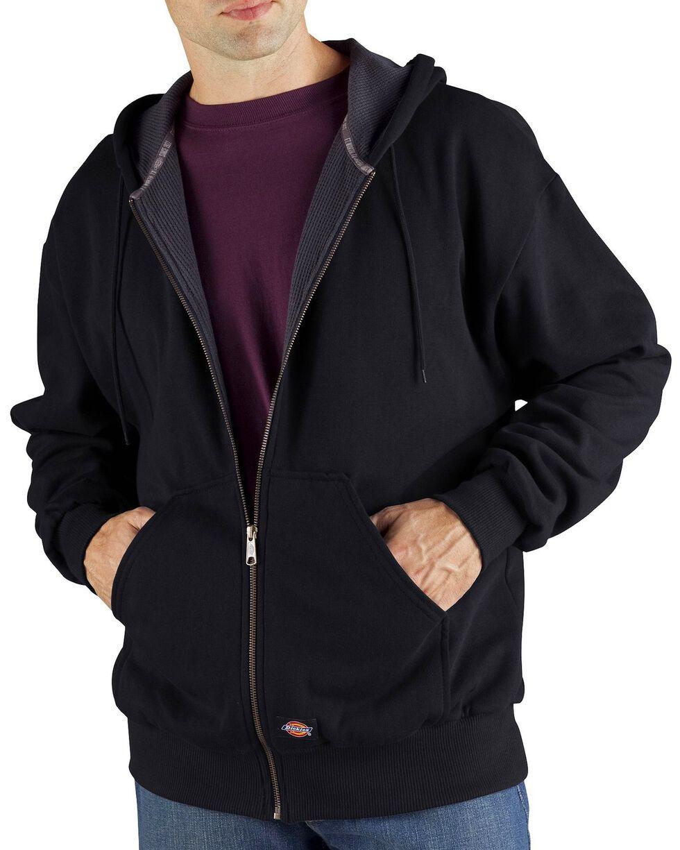Dickies Midweight Fleece Zip-Up Hooded Work Jacket - Big & Tall, Black, hi-res