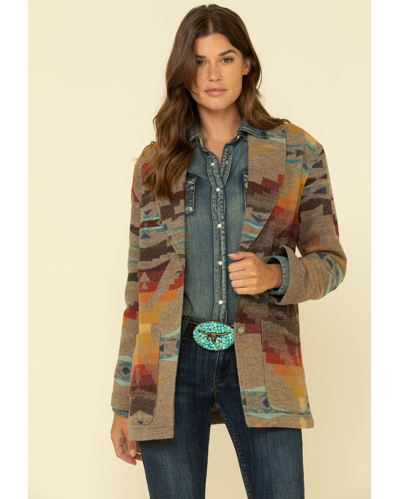 Pendleton Women's Sierra Wool Blazer, Multi, hi-res