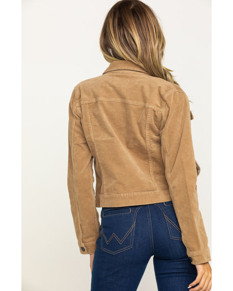 Shyanne Women's Camel Cord Trucker Jacket, Camel, hi-res