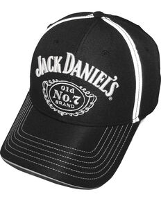 Jack Daniel's Men's Black Logo Cap, Black, hi-res