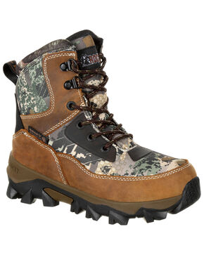 Rocky Youth Boys' Claw Insulated Waterproof Outdoor Boots - Round Toe, Camouflage, hi-res