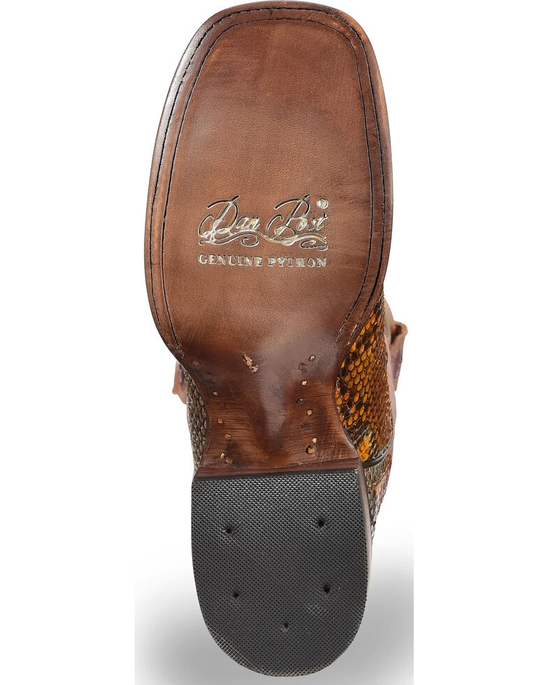 Dan Post Women's Painted Belly Python Stockman Cowgirl Boots - Square Toe, Multi, hi-res