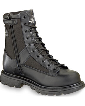 "Thorogood Men's 8"" Waterproof Side-Zip Trooper Boot - Soft Toe, Black, hi-res"