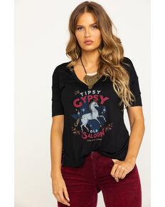 Idyllwind Women's Tipsy Gypsy Tee, Black, hi-res