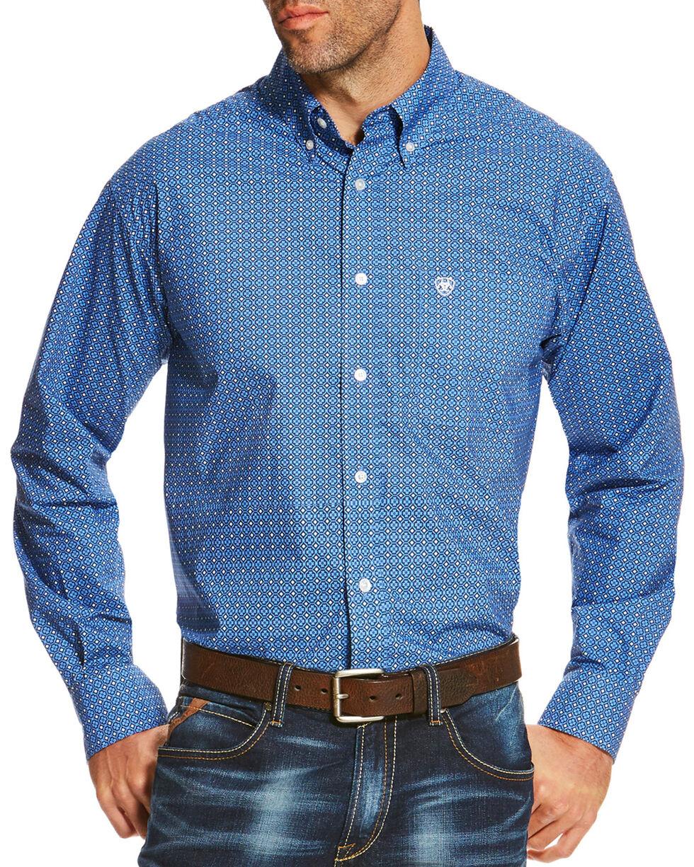 Ariat Men's Diamond Patterned Button Down Long Sleeve Shirt , , hi-res