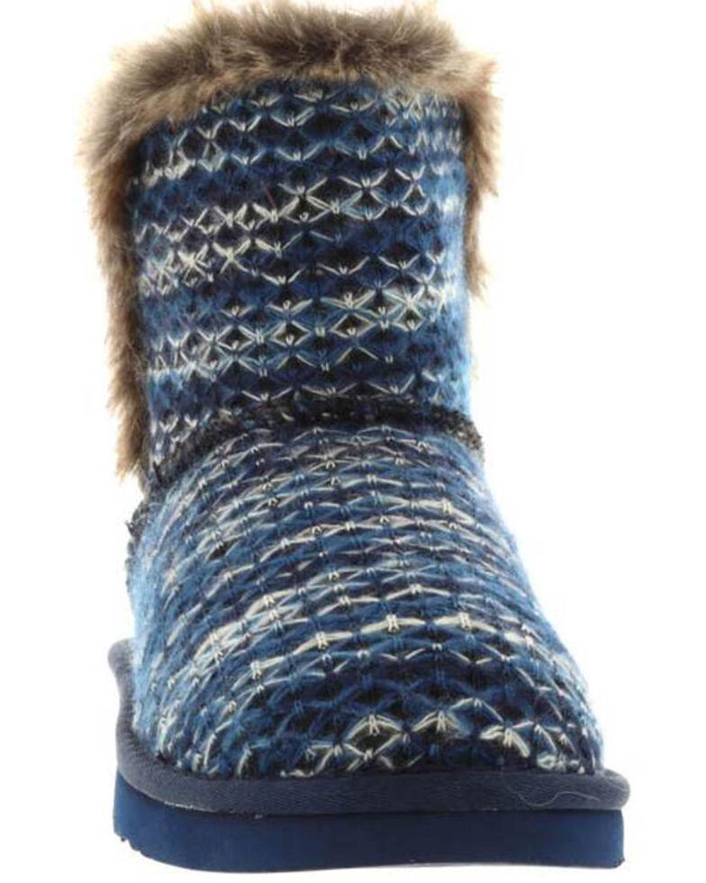 Lamo Footwear Navy Women's Yuma Fleece Boots - Round Toe, Navy, hi-res