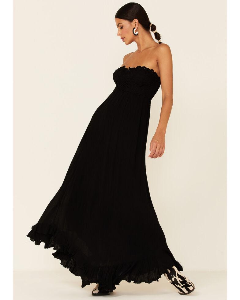 Free People Women's Adella Maxi Dress, Black, hi-res