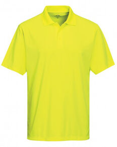 Tri-Mountain Men's Bright Green Vital Mini-Pique Short Sleeve Work Polo Shirt , Bright Green, hi-res