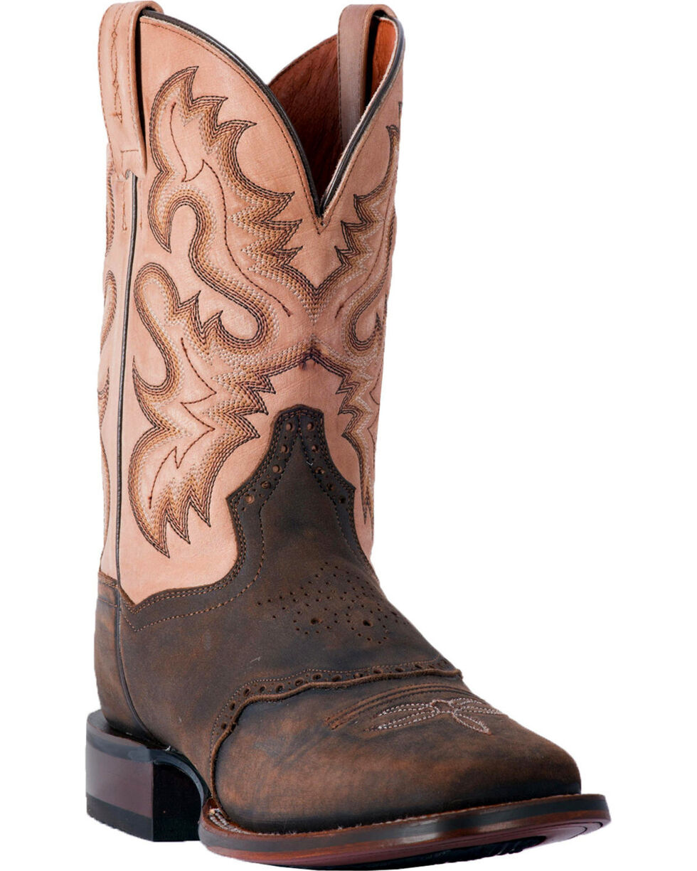 Dan Post Men's Vance Cowboy Boots - Square Toe, Chocolate, hi-res