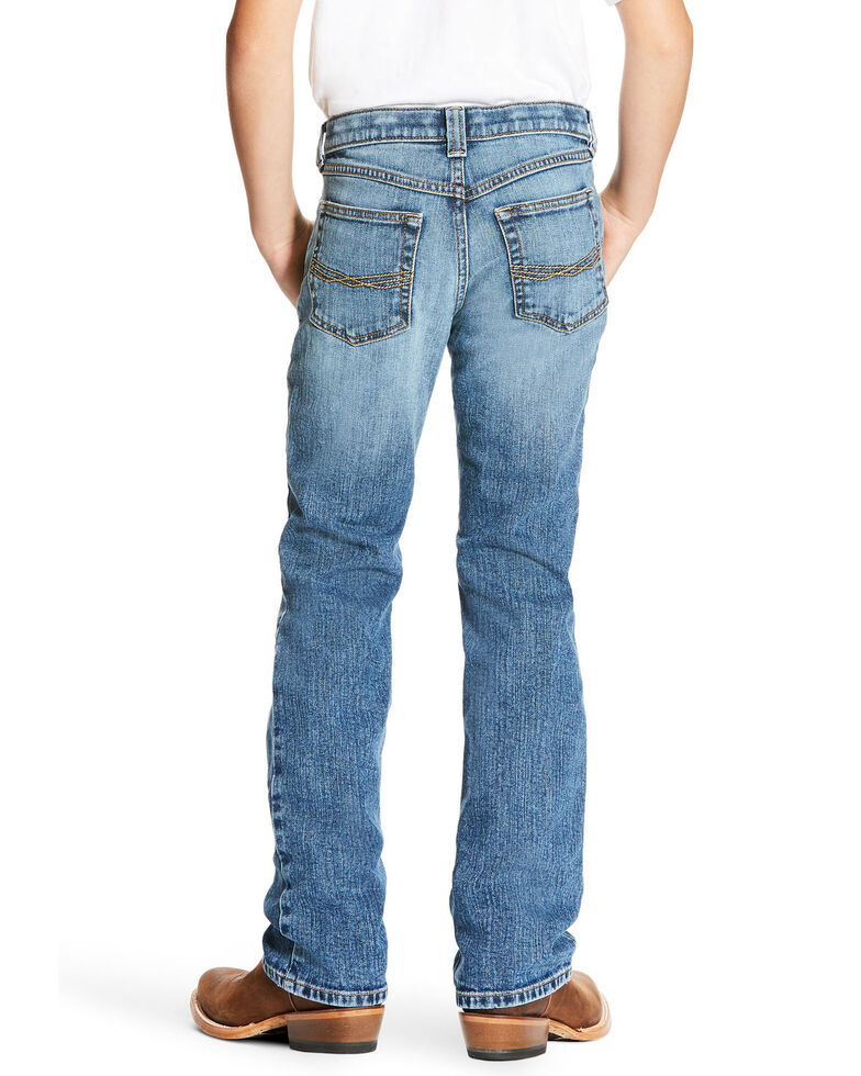 Ariat Boys' Brandon Legacy Stretch Low Relaxed Boot Jeans , Blue, hi-res