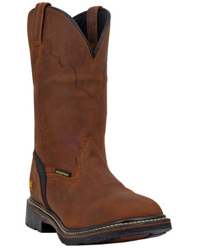 Dan Post Men's Lubbock Waterproof Western Work Boots - Wide Square Steel Toe, Tan/copper, hi-res