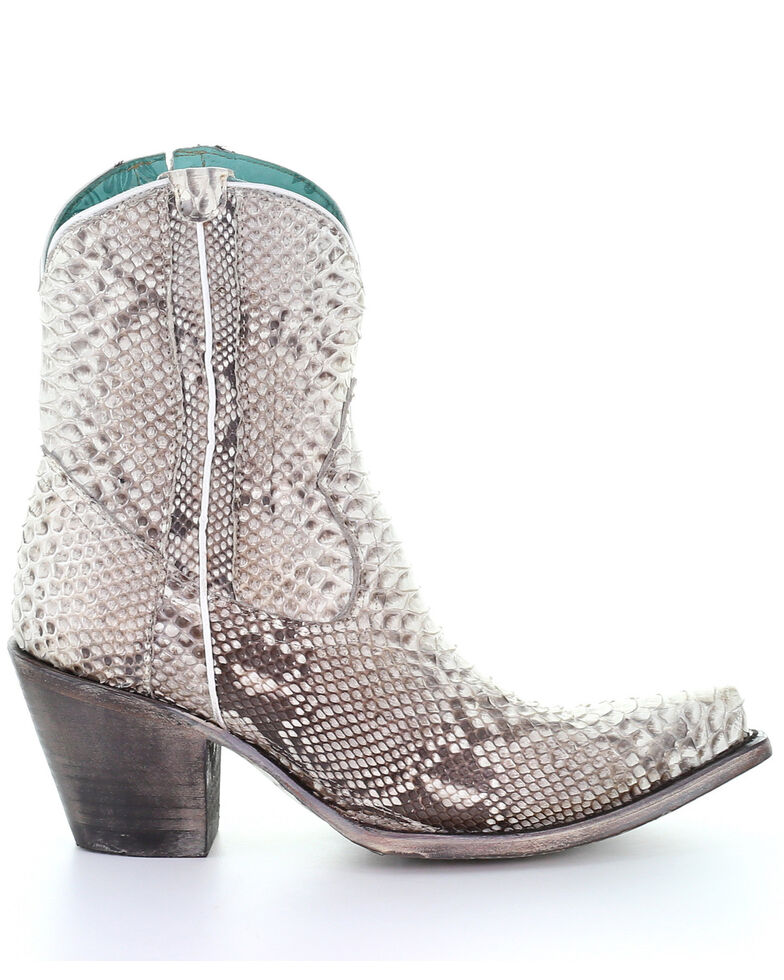Corral Women's Python Western Booties - Snip Toe, , hi-res