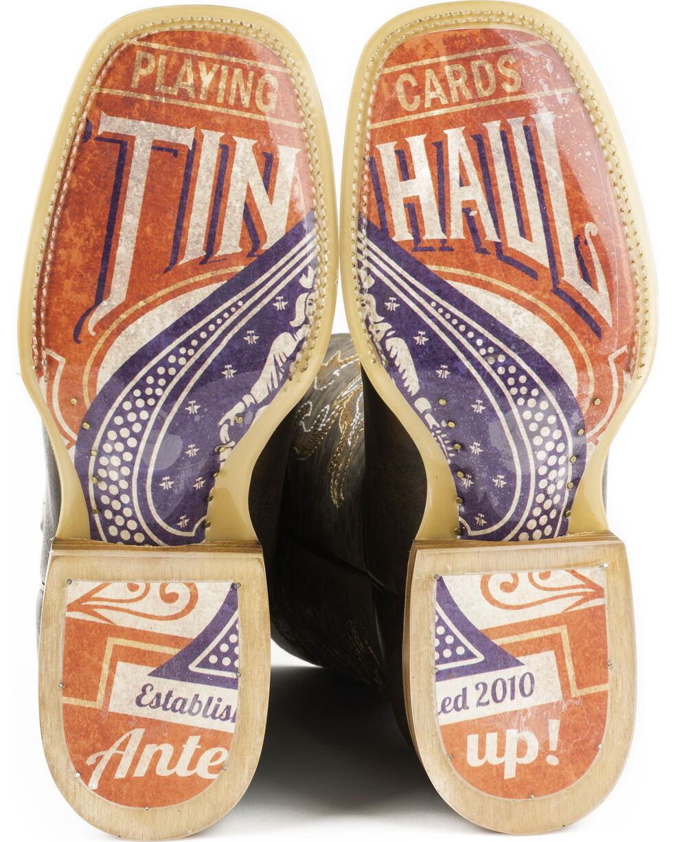 Tin Haul Men's Black Jack Western Boots, Brown, hi-res