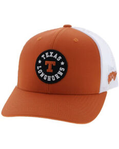 HOOey Men's UT Logo Circle Patch Cap , Orange, hi-res