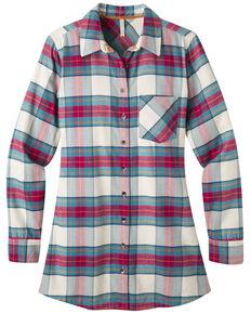 Mountain Khakis Women's Penny Plaid Flannel Tunic Shirt, Cream, hi-res