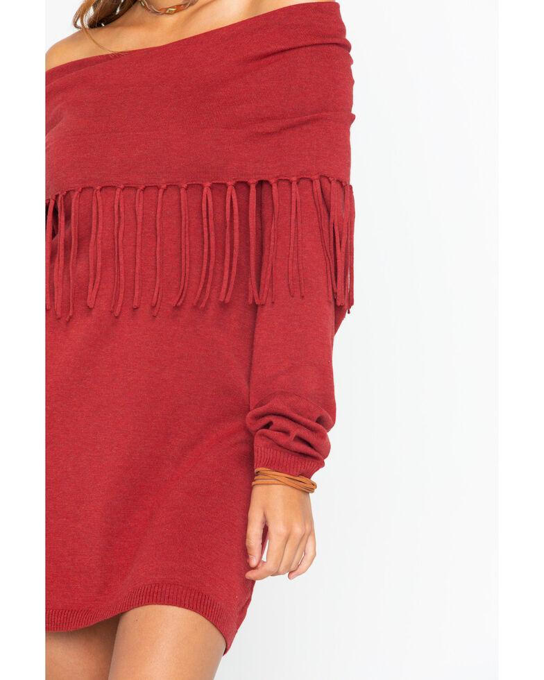 Tasha Polizzi Women's Thoroughbred Tunic Sweater, Wine, hi-res