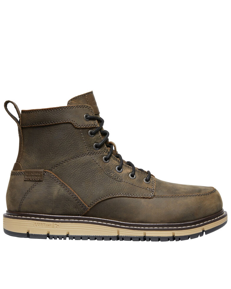 Keen Men's San Jose Waterproof Work Boots - Aluminum Toe, Brown, hi-res