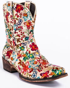 f9290bef6cbb Roper Women s Ingrid Floral Western Boots - Snip Toe.  59.99. Roper Womens  Amelia Eagle Overlay ...