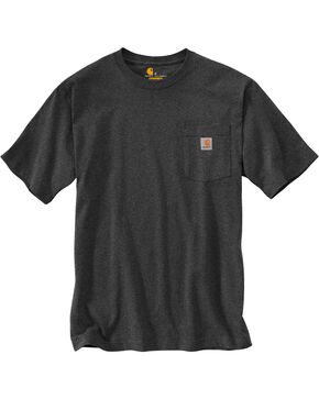 Carhartt Men's Charcoal Workwear Fishing Filled C Graphic Tee , Charcoal, hi-res