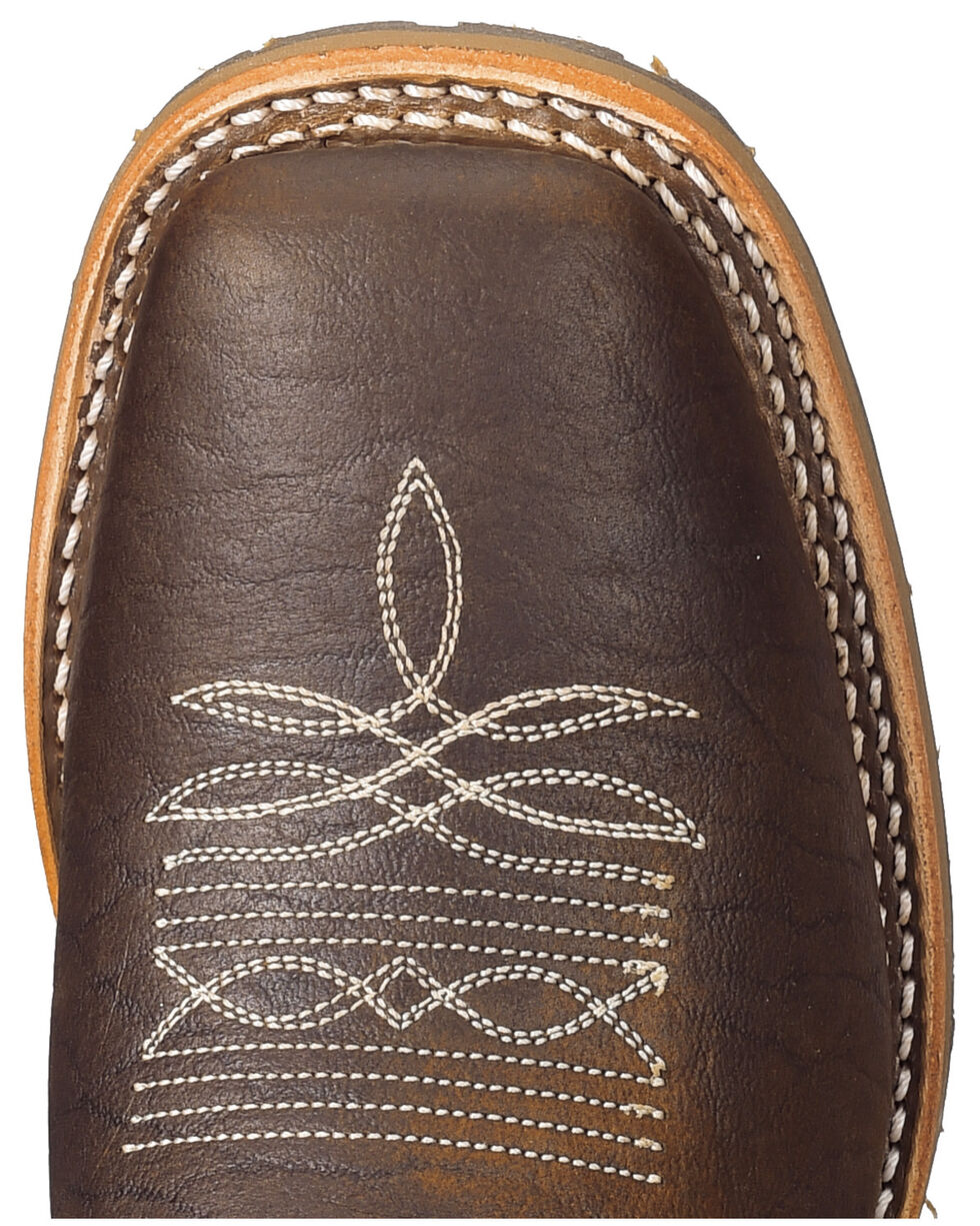 Double H Men's Brown Domestic I.C.E Shortie Boots - Square Toe, Brown, hi-res