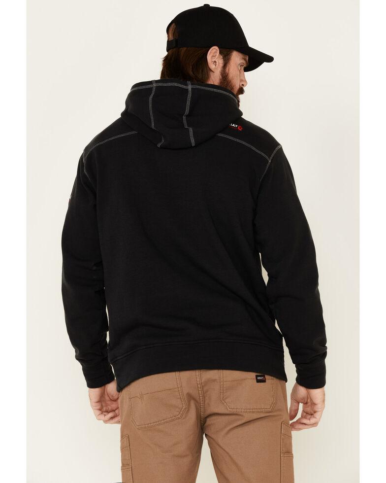 Ariat Men's Flame-Resistant Tek Hooded Work Sweatshirt, Black, hi-res