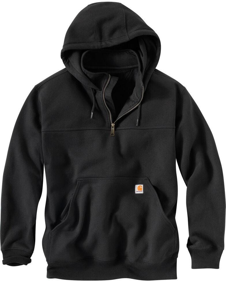 Carhartt Rain Defender Paxton Hooded Zip Mock Sweatshirt - Big & Tall, Black, hi-res