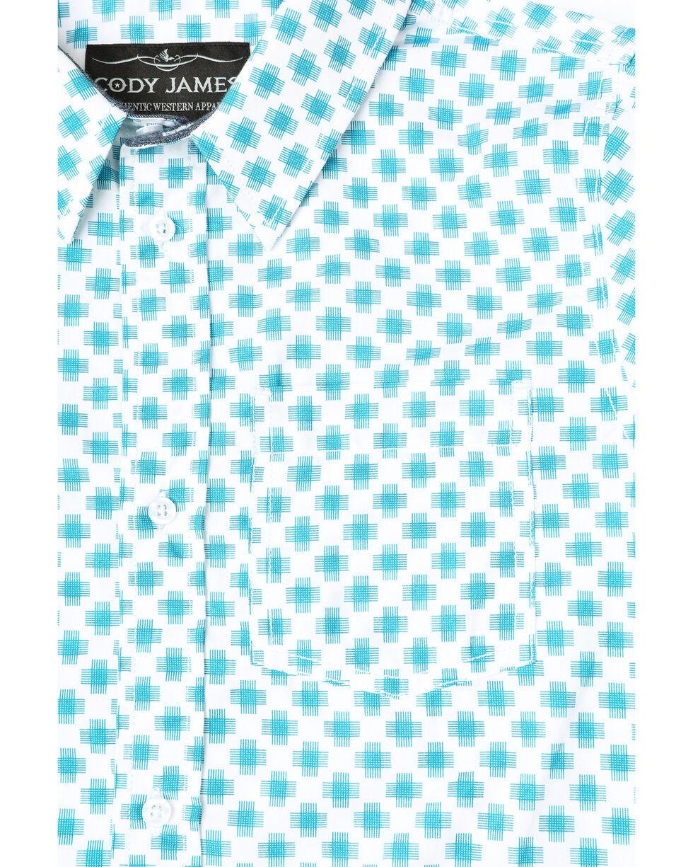 Cody James Boys' Astro Geo Print Long Sleeve Western Shirt , White, hi-res
