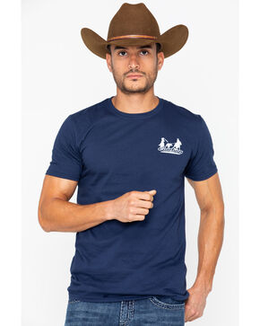 Cowboy Hardware Men's Classic Logo T-Shirt, Navy, hi-res