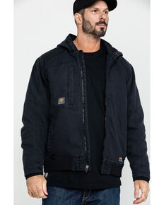 Ariat Men's Black Rebar Washed Dura Canvas Insulated Work Coat - Big & Tall , Black, hi-res