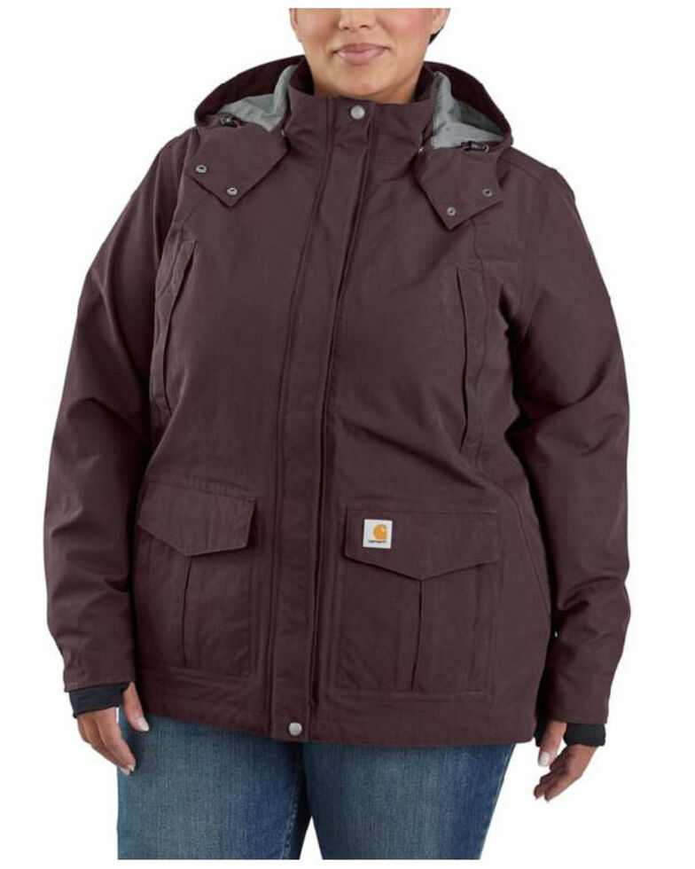 Carhartt Women's Wine Storm Defender Shoreline Jacket - Plus, Wine, hi-res