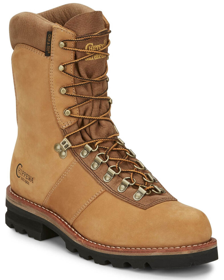 Chippewa Men's Weddell Golden Wateproof Work Boots - Soft Toe, Tan, hi-res
