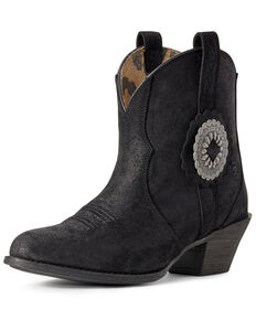 Ariat Women's Cantina Suede Western Booties - Round Toe, Black, hi-res