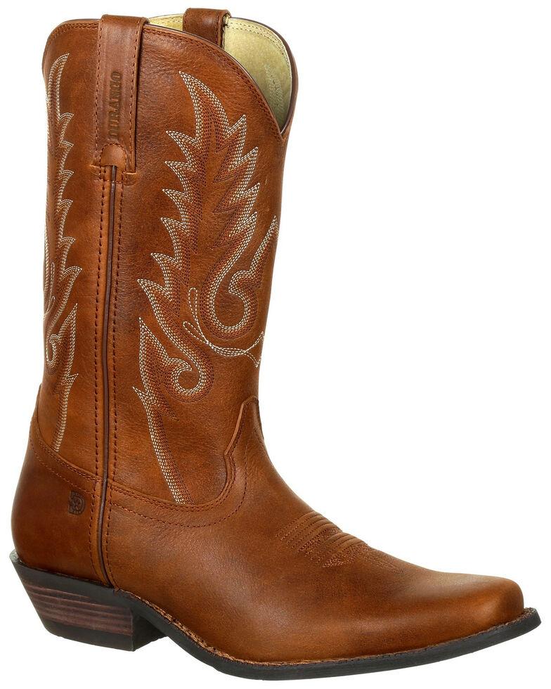 Durango Men's Gambler Western Boots - Square Toe, Brown, hi-res