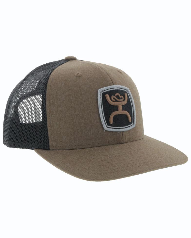 HOOey Men's Brown Zenith Logo Patch Mesh Ball Cap , Brown, hi-res