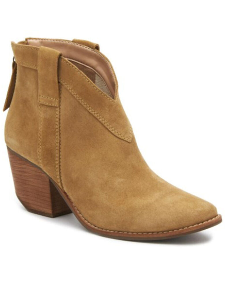 Matisse Women's Arrow Fashion Booties - Round Toe, Camel, hi-res